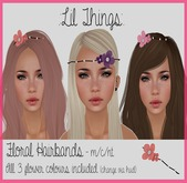 .:Lil Things:. Floral Hairband