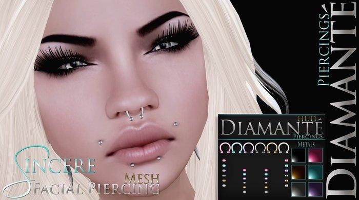 :Diamante: Sincere Facial Piercing