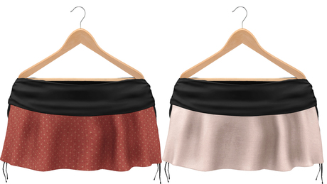Blueberry Rori *Mesh* -HUD Controlled- Side Tied Skirts Black
