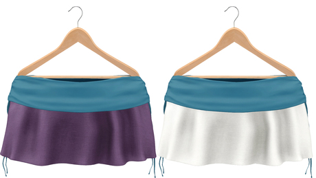 Blueberry Rori *Mesh* -HUD Controlled- Side Tied Skirts Blue