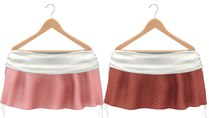 Blueberry Rori *Mesh* -HUD Controlled- Side Tied Skirts White