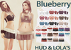 Blueberry Rori *Fitted Mesh* -HUD Controlled & Lola's Appliers - Side Tied Tops & Skirts FAT PACK