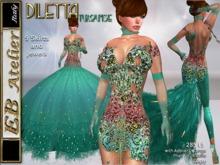 EB Atelier - DILETTA Turquoise Outfit 9 skirts OMEGA PHAT-AZZ ,LOLAS,BRAZILIA Appliers- italian designer