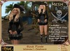 [Drac] Black Pirate Corset Costume (With Fitted and Normal Mesh)