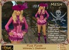 [Drac] Pink Pirate Corset Costume (With Fitmesh and Normal Mesh)