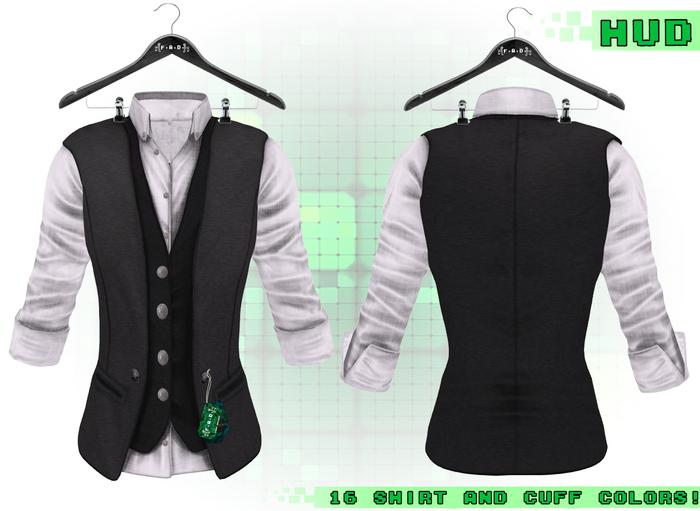 F.A.D. // Artemus Double Vested Shirt Black