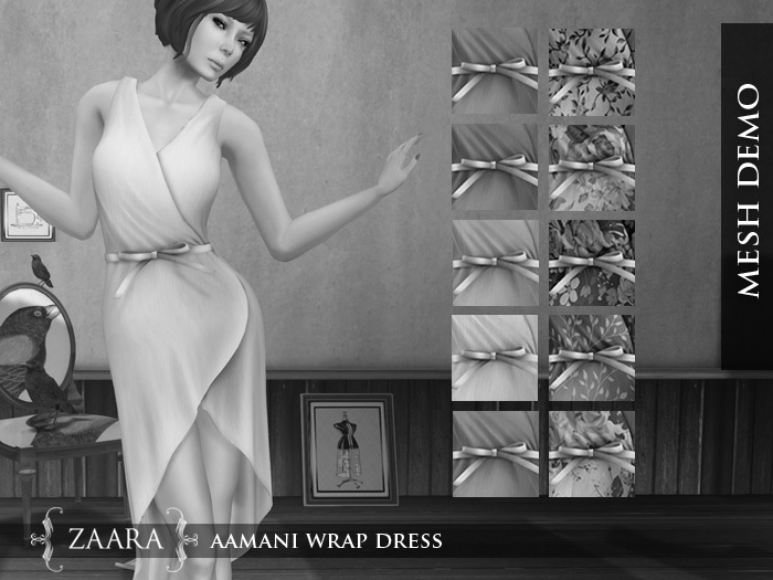Zaara : [Mesh] Aamani wrap dress *DEMOS*