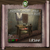* Arabian Market Table with Rugs (boxed) - highly detailed, precisely textured multi-face Mesh decor