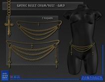 POMPOSITY - Gothic Belly Chain / Belt - GOLD Version