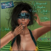 Masquerade Morpheus Blue Lace Mesh Mask