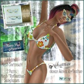 AKAMAI Hawaiin Female Mesh Swimsuit & Reflection Sunglasses