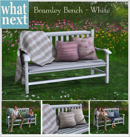 {what next) Bramley Bench - White
