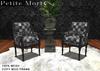 Petite Mort: Dark patchwork Victorian chair MESH