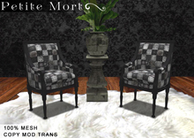 Drk patchwork Victorian chair