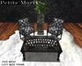 Petite Mort: Dark wood ouija board coffee table MESH