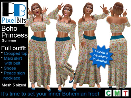 Boho Princess (Summer) Complete Outfit!