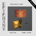Gold Round Wall Lamp (1 Prim, 100% Mesh)