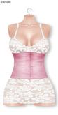 Gawk! White Lace Dress - Rose Corsage
