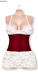 Gawk! White Lace Dress - Red Corsage   BoM