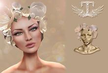 TOPAZIA- Evy Crown flower (sweet beige)