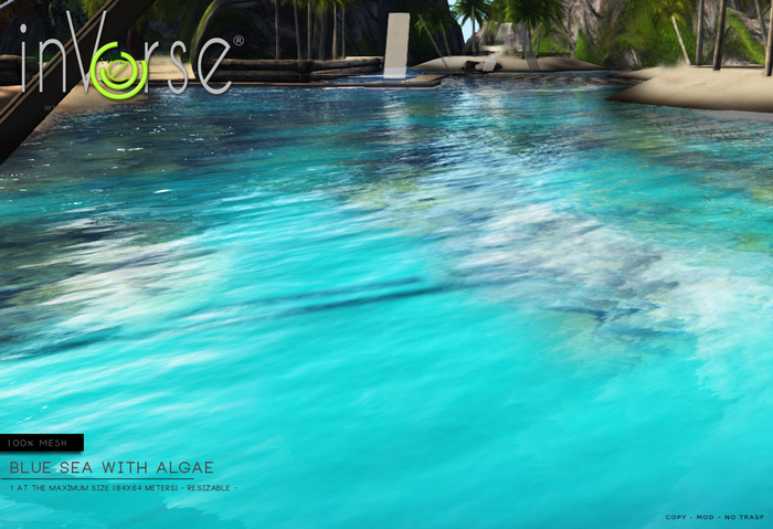 inVerse® MESH Turquoise water (blue sea) with algae