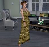 Bella long dress mesh and fitmesh  - (tm) Freeky