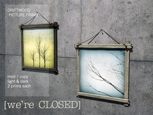 [we're CLOSED] driftwood picture frames