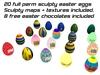 20 sculptured easter eggs full perm + textures + sculpty maps