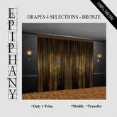 Drapes 4 Selections in Bronze (1 Prim, 100% Mesh)