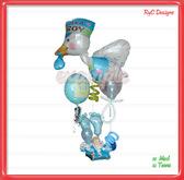 Its a boy globos Ciguena / balloons Dollarbie