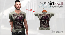 Instinct - Tshirt - fitted mesh - Skull