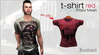 Instinct - Tshirt - fitted mesh -  Red