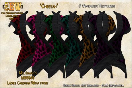 [SEW] Full Permisison Textures for Meli Imako's MI86949 Cardigan Wrap front Cheetah