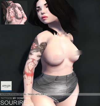 SOURIRES TATTOOS. - My Own Doll TATTOO (w/ Tango Applier)
