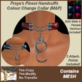 Freya's Finest Handcuffs Colour Change Collar - Male & Female versions