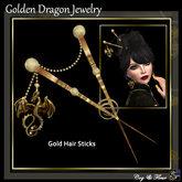 C&F Golden Dragon Hair Sticks Updated