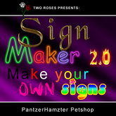 SignMaker2 - Make your own custom signs! | sign maker kit fonts text maker