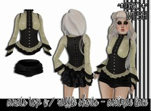 ::drbc:: anais top & ruffle shorts - antique lace [BOXED]