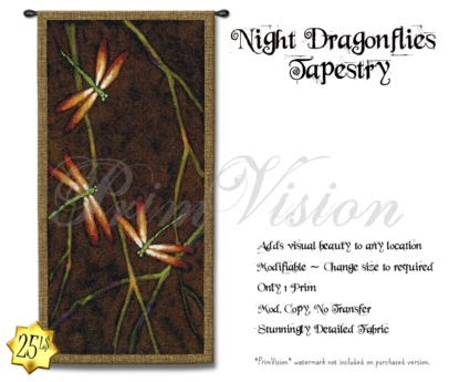 *PV* Night Dragonflies Tapestry