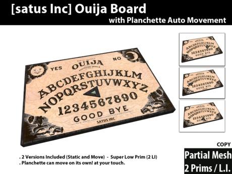 [satus Inc] Ouija Board (Planchette Auto Movement)