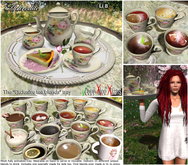 "Aphrodite ""Exclusive blends""  tea tray with waiter animation"