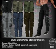 <BIC> Bruno Work Pants (Standard Colors)