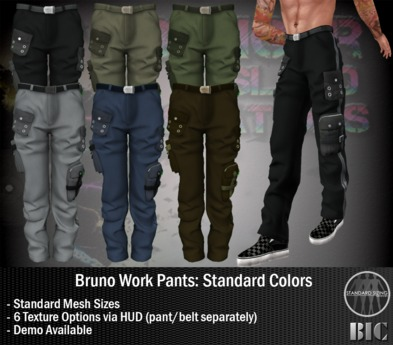 <BIC> Bruno Work Pants (Standard Colors) DEMO