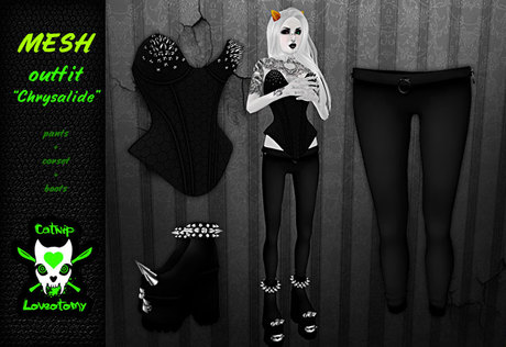 ".::: Catnip Loveotomy :::. - outfit ""Chrysalide"""