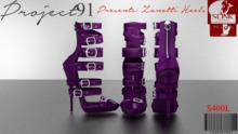 Zanotti Heels Purple (Slink High)