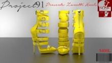 Zanotti Heels Yellow (Slink High)