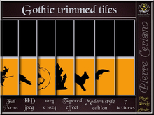 Gothic trimmed tiles - 7 FULL PERM HD jpeg textures