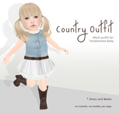[OH] Country outfit for ToddleeDoo - BABY