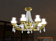 Crystal and Gold Chandelier