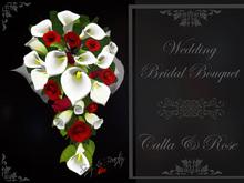 Wedding Bridal Bouquet  - Calla & Rose